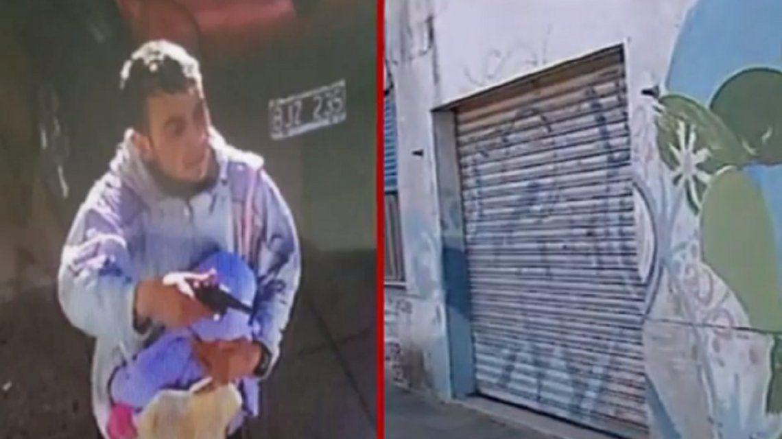 El colmo del multitasking: salió a robar con su hijo en brazos