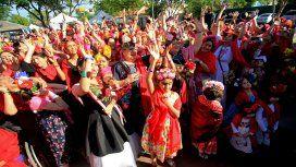 Una multitud de mujeres, en busca del record