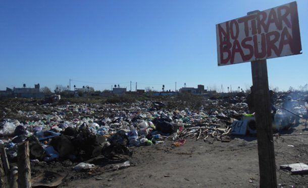 El hallazgo se produjo en un descampado que funciona como un basural ubicado en el barrio Villa Dorrego