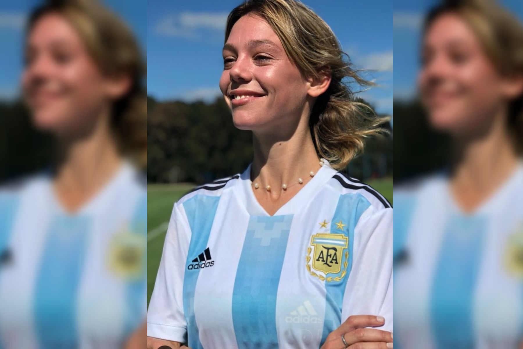 Alexia Ortiz presentó la camiseta de la Selección femenina y una jugadora explotó