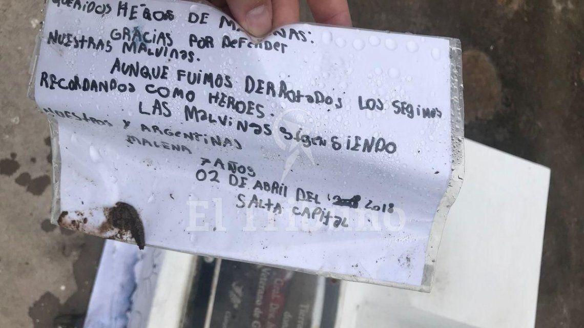 Salta: la conmovedora carta de una nena de 7 años a los soldados de Malvinas