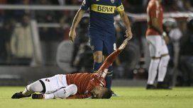 Fabricio Bustos se retiró lesionado y el parte médico confirmó que sufrió un esguince
