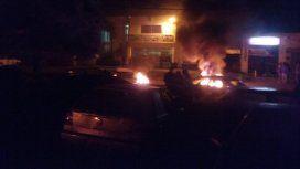 Frente a la DIstrital Sur 2º se realizó la protesta por el crimen del colectivero