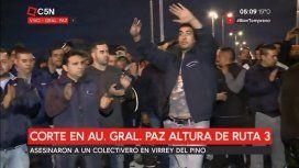 Piquete en avenida General Paz por el chofer asesinado