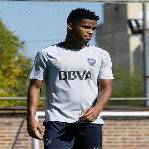 Wilmar Barrios en la práctica de Boca - Crédito: Facebook Boca