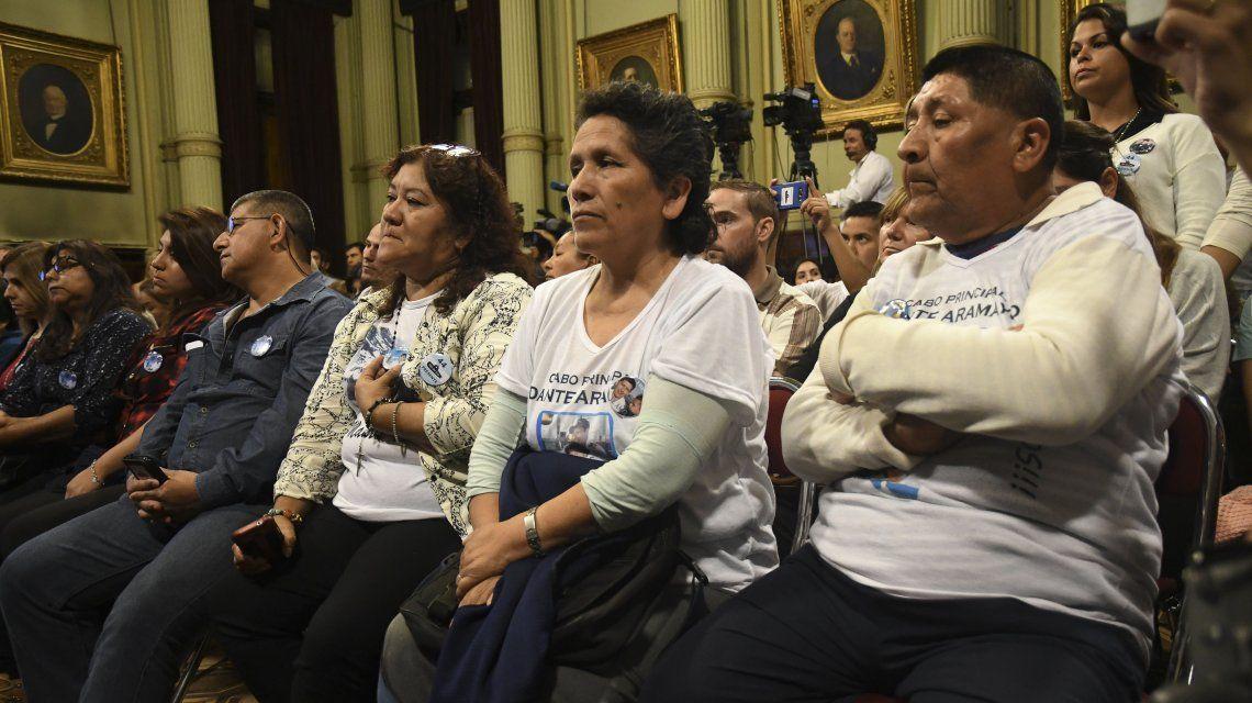 Familiares de los tripulantes del ARA San Juan
