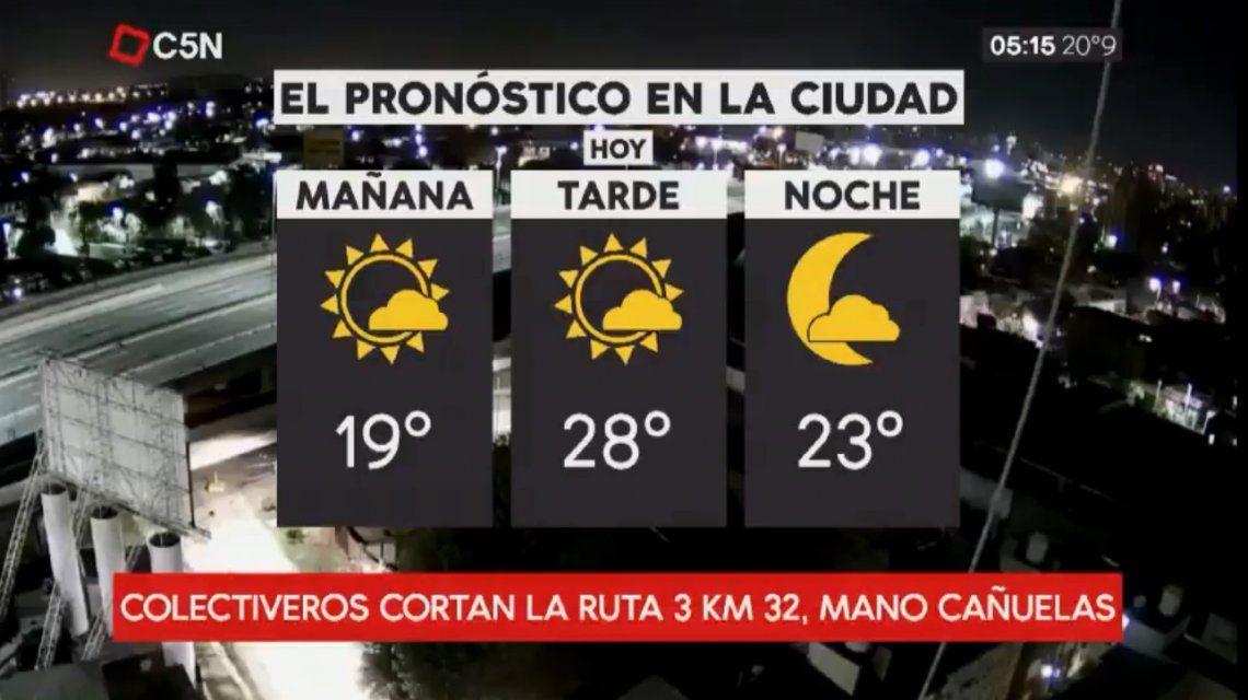Pronostico del tiempo del martes 17 de abril de 2018