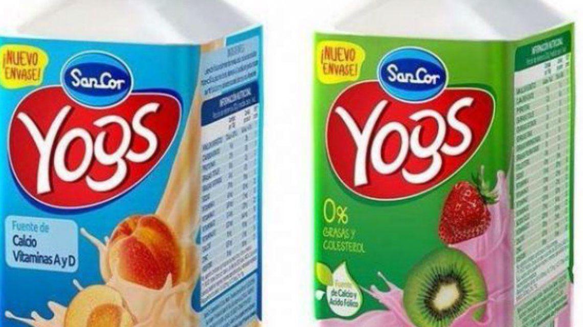 Ordenan retirar del mercado lotes de yogures bebible Yogs