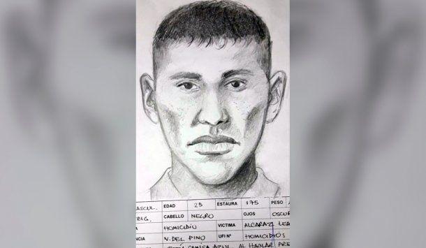El identikit del asesino de Leandro Alcaraz<br>