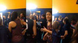 VIDEO: Agredieron al plantel femenino de voley de San Lorenzo en el vestuario de Boca