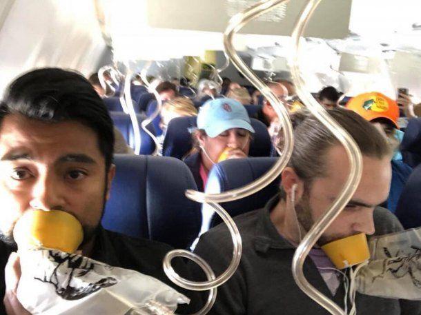 Desesperación dentro del avión de Southwest Airlines<br>