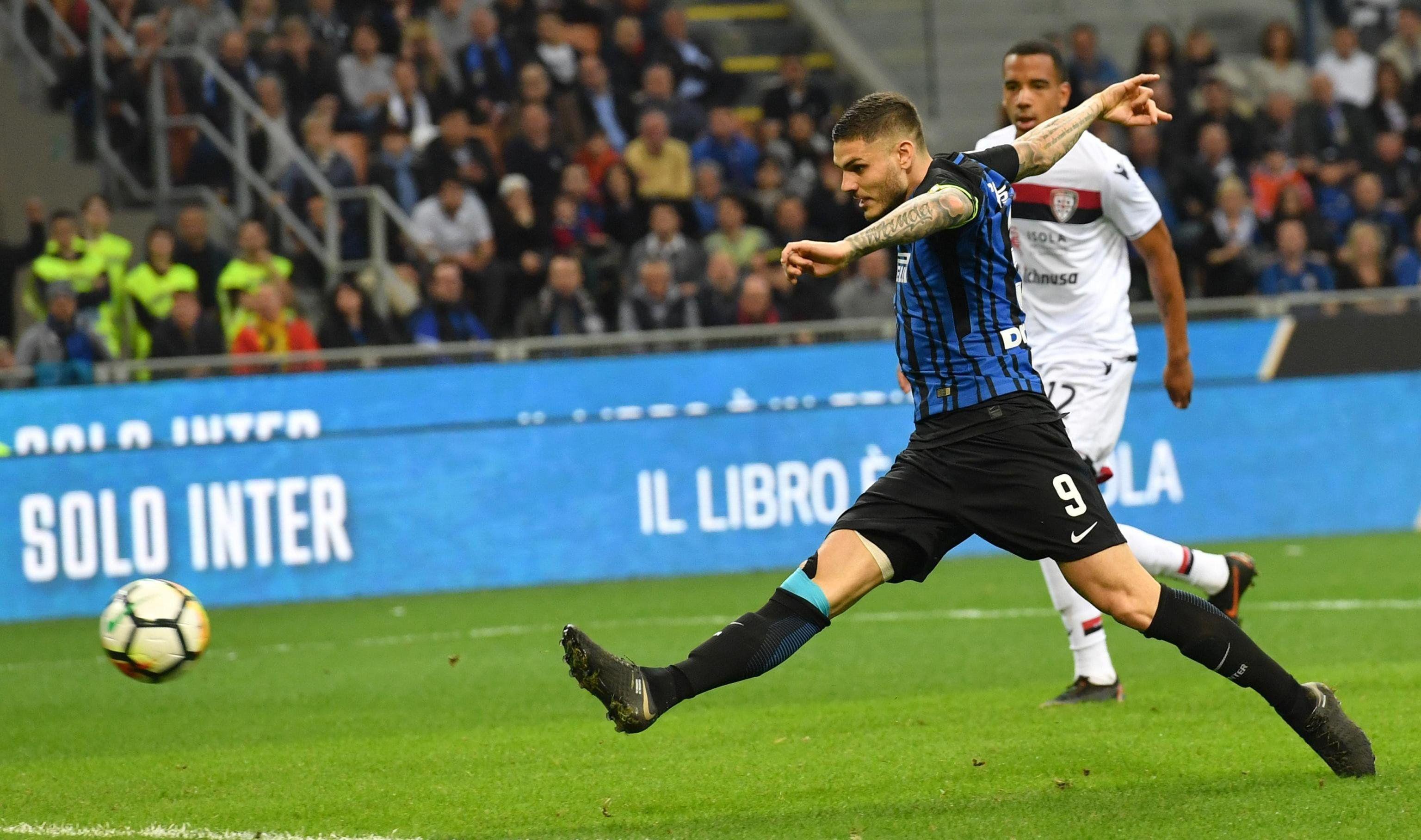 Icardi llegó a los 25 goles en la Serie A, la mejor marca de su carrera