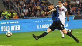 Tremendo: Icardi llegó a los 25 goles en la Serie A, la mejor marca de su carrera
