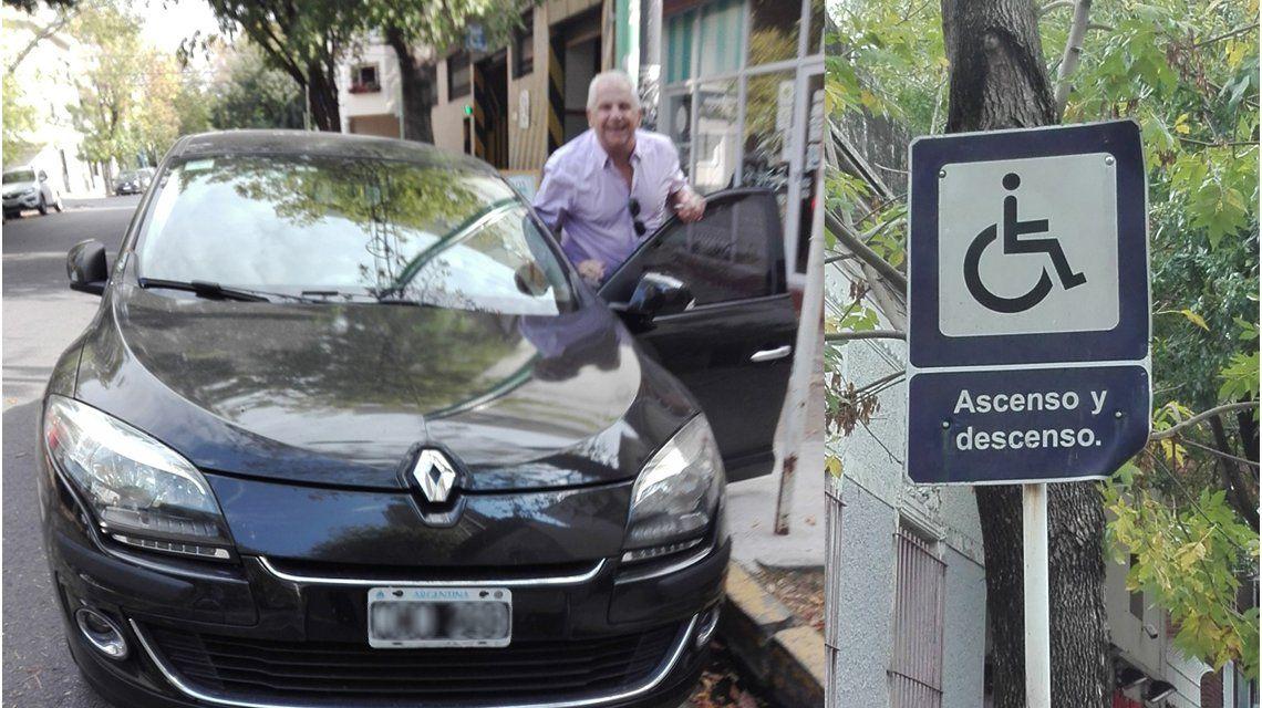 El hombre se rió de las protestas y dejó su auto frente a la rampa para discapacitados