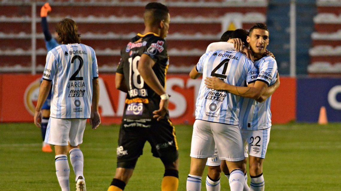 Atlético Tucumán festeja su histórico triunfo en la Copa Libertadores