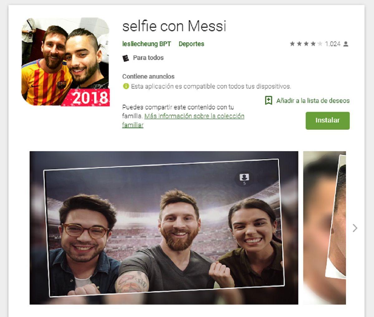 Selfie con Messi