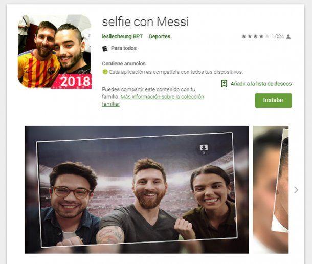 Selfie con Messi, la app que es furor<br>