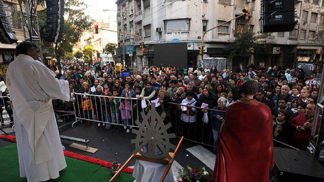 El festejo de San Expedito cortará varias calles del barrio de Once