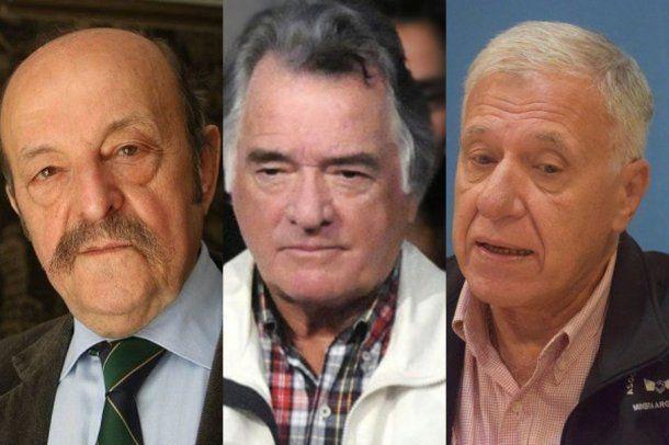 Julio Bárbaro, Luis Barrionuevo y Carlos Campolongo.