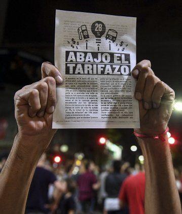 Las protestas por el tarifazo se hicieron sentir en todo el país