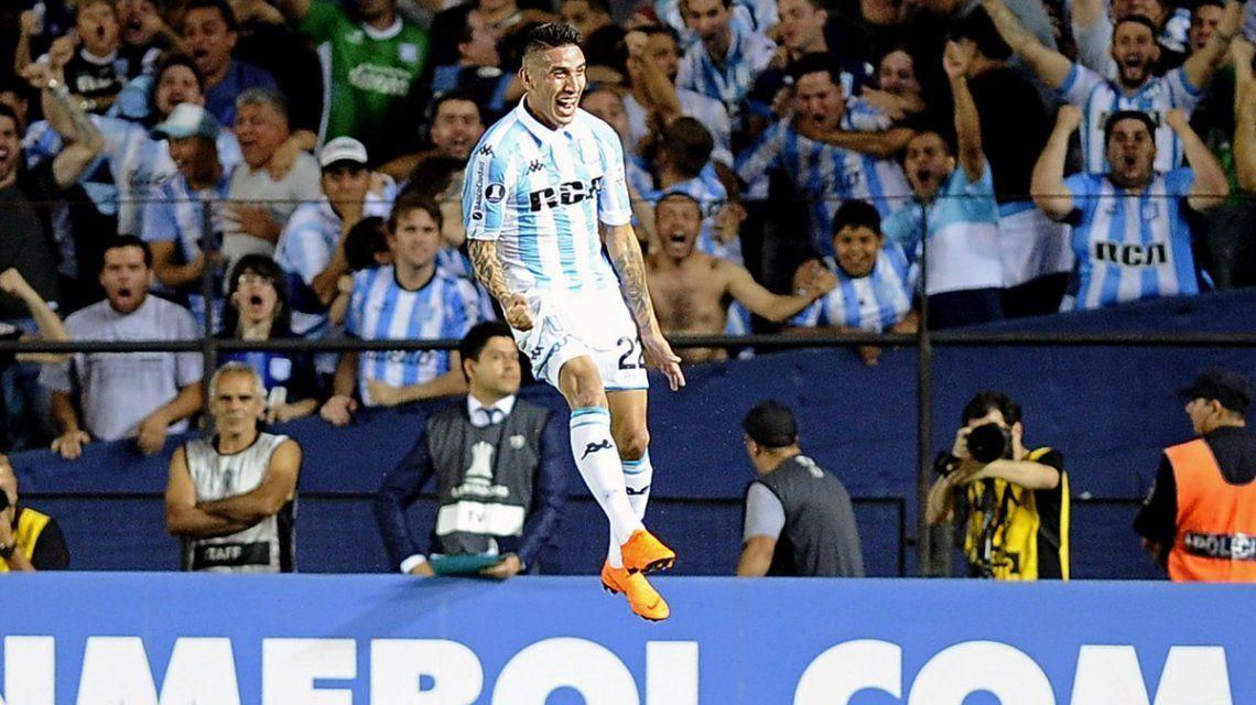 Lautaro Martínez en Racing - Crédito: @Libertadores