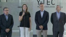 Lino Barañao, María Eugenia Vidal, Mauricio Macri y Juan José Aranguren