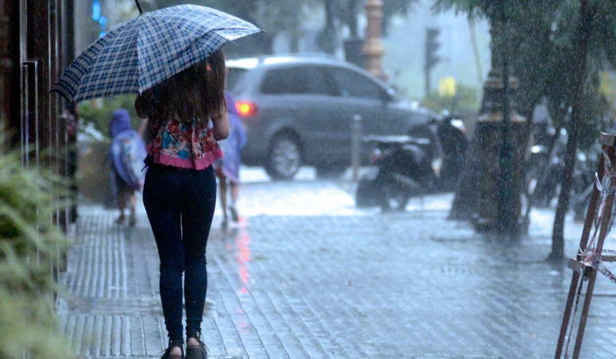 Se largó la lluvia en la Ciudad: el pronóstico para el fin de semana