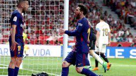 La Pulga saluda a Jordi Alba, su gran asistidor