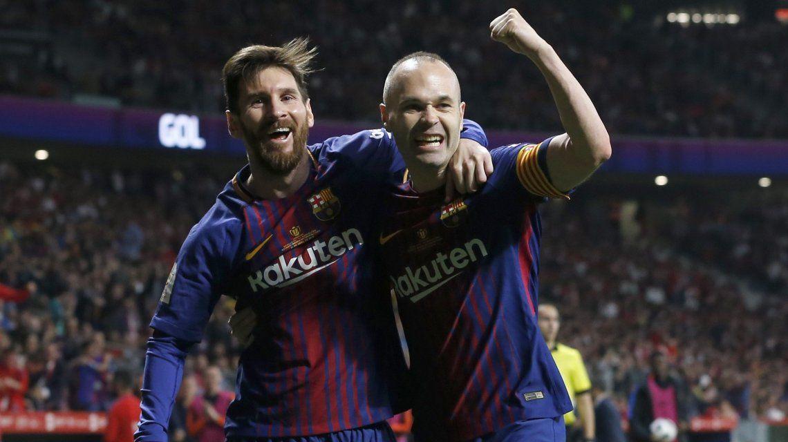 Messi e Iniesta en Barcelona