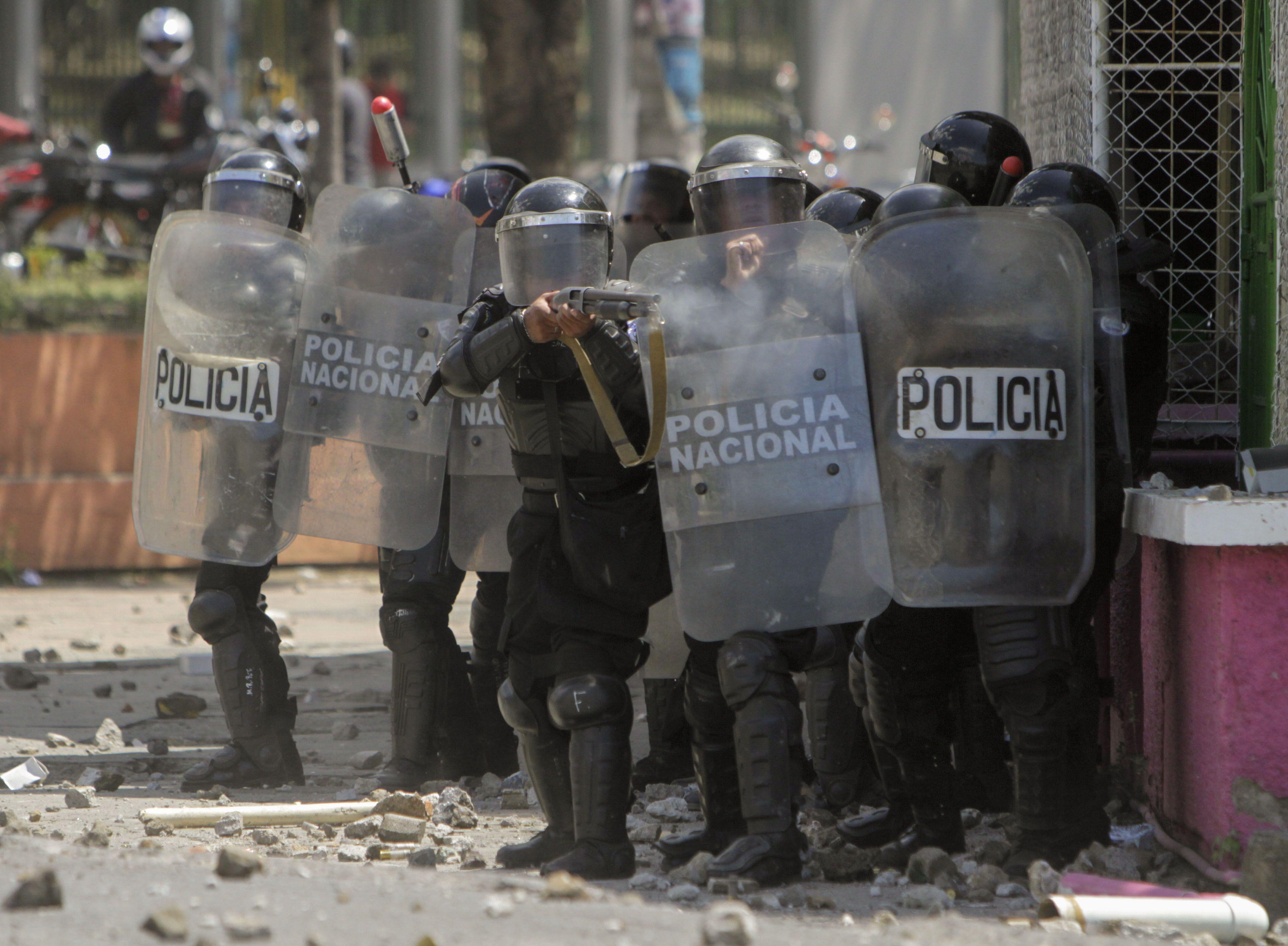 Ortega mandó a la Policía y las tubas a atacar a los manifestantes