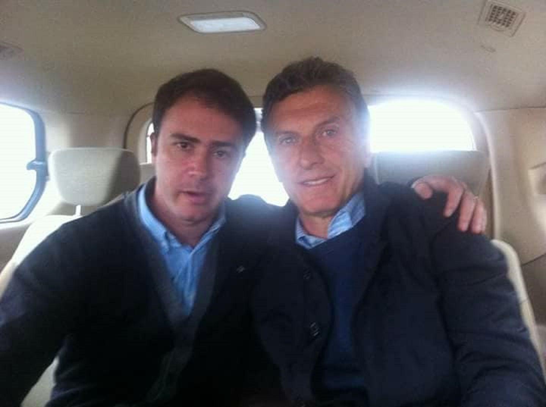 Mariano Proietti junto a Mauricio Macri.