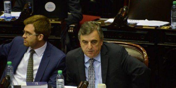 Los diputados de Cambiemos Nicolás Massot y Mario Negri.