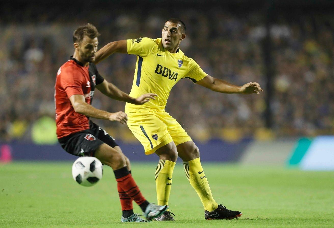 Wanchope Abila en Boca vs Newell´s - Crédito:BocaJrsOficial