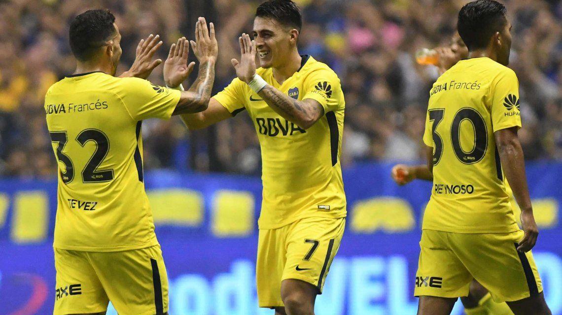 Carlos Tevez y Cristian Pavón en Boca