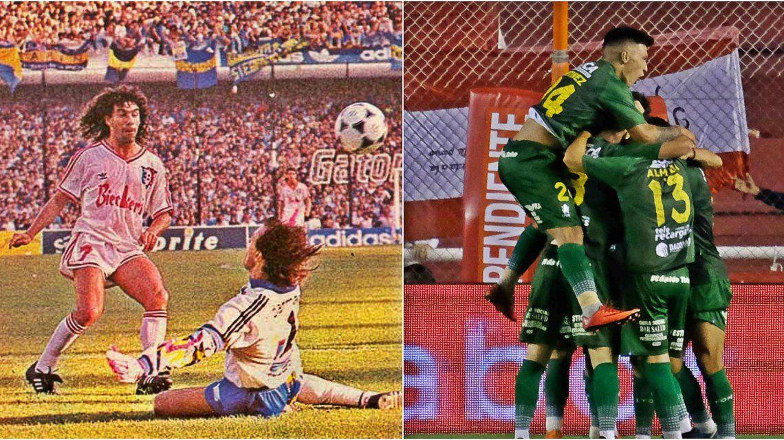 Español ganando en La Bombonera y Defensa y Justicia venciendo al campeón de la Sudamericana