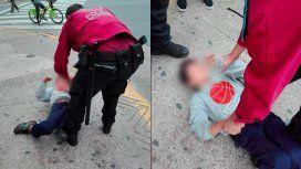 Así detuvo la Policía de la Ciudad al nene