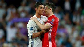 Cristiano Ronaldo y Robert Lewandowski