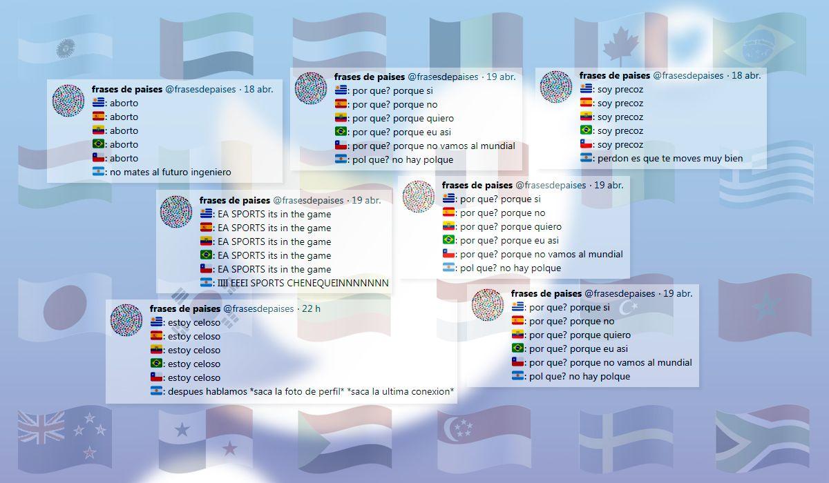 Frases de países: los nuevos memes que hacen reír a todo Twitter
