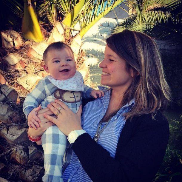 María José Suris con su bebé<br>