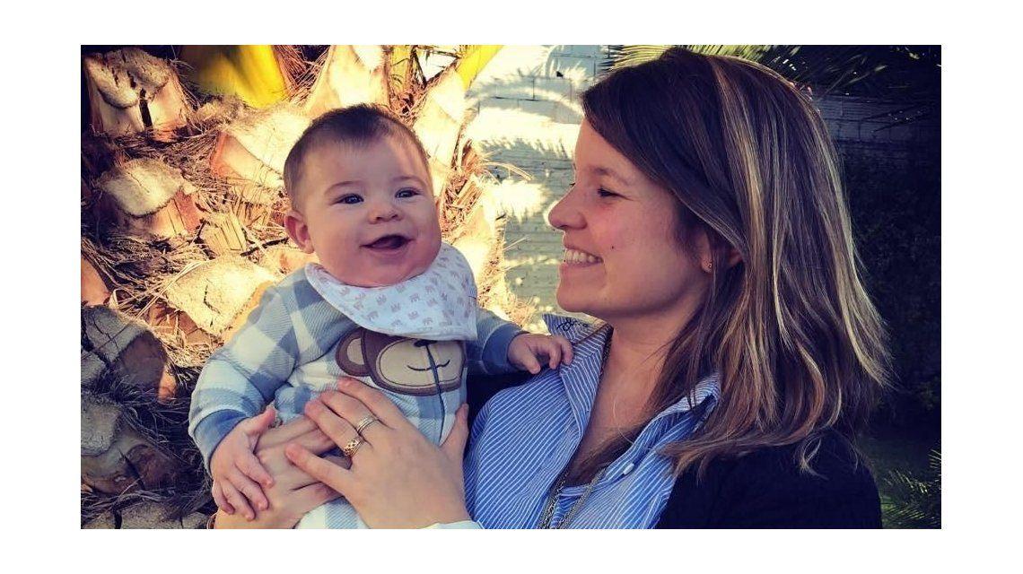 María José Suris con su bebé
