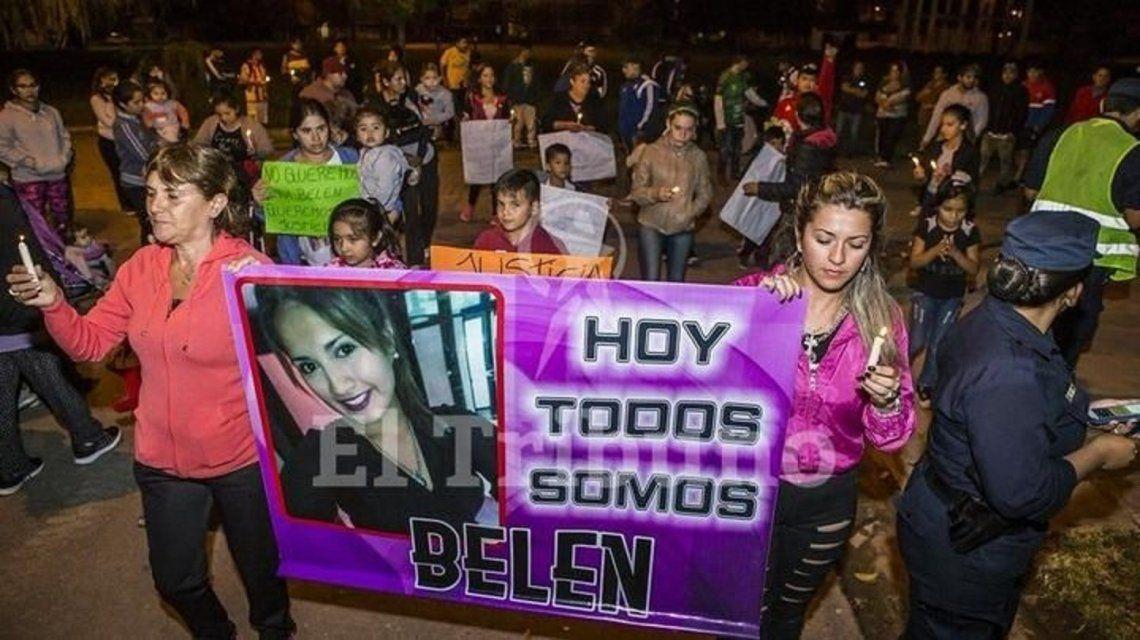 Familiares y amigos de Belén marcharon para pedir justicia y seguridad. (El Tribuno)