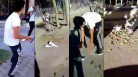 Un grupo de estudiantes maltratan a una paloma y son grabados
