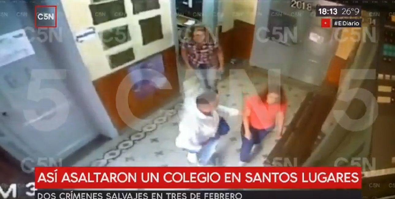 Un delincuente entró armado a robar en una escuela de Santos Lugares