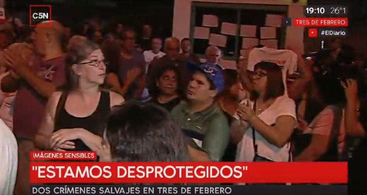 Muerte del canillita: vecinos protestan frente a la municipalidad de Tres de Febrero para reclamar más seguridad