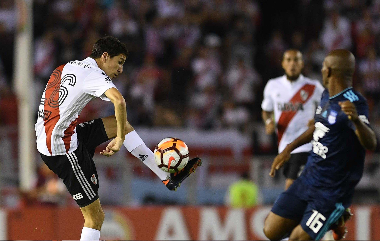 River contra Emelec por la Libertadores en el Monumental