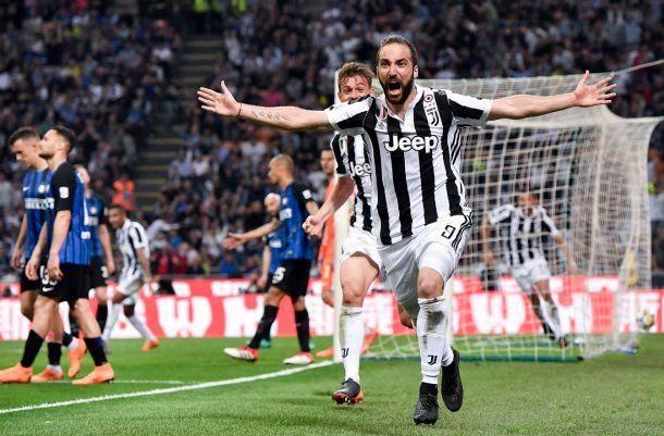 Gol de Higuín para el 3 a 2 de Juventus sobre Inter - Crédito: @juventusfc