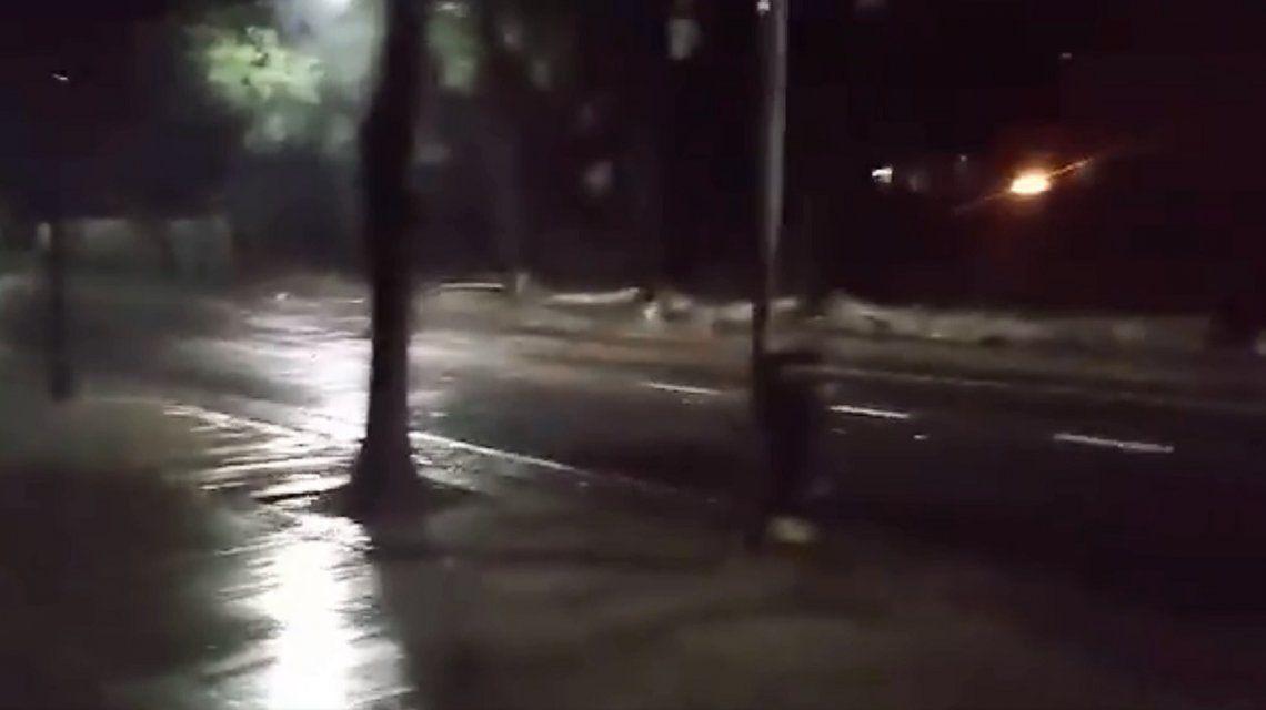 Tormenta en la Ciudad: se derrumbó un muro del hospital Borda