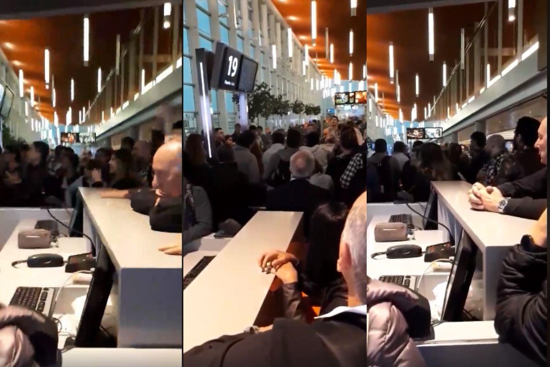 Caos en Ezeiza por la cancelación y demoras de vuelos: más de 300 personas varadas