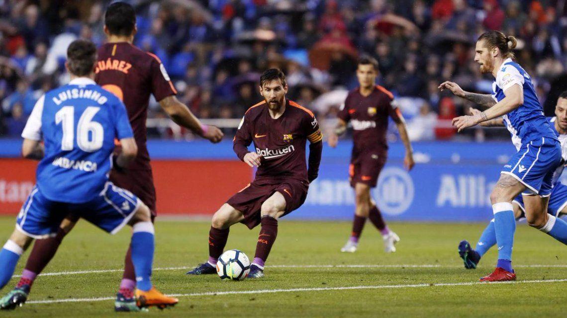 Messi en Barcelona vs Coruña - Crédito:@FCBarcelona_es