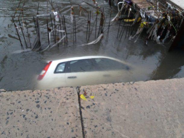 El conductor se salvó de milagro<br>